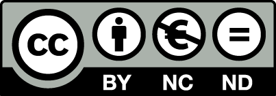 creative commons logo by nc ndeu